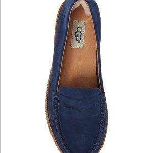 Ugg Charlie loafer flat blue suede